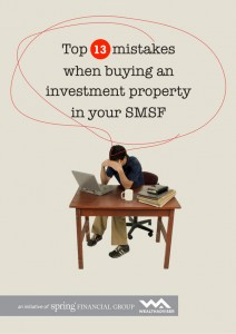 Top 13 SMSF Property Mistakes - eBook cover