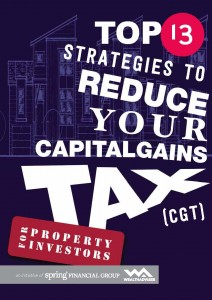 Top 13 Strategies to Reduce Your Capital Gains Tax - eBook Cover