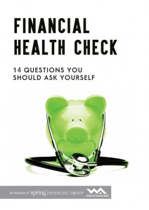 Financial Health Check - 14 Questions You Should Ask Yourself - eBook cover
