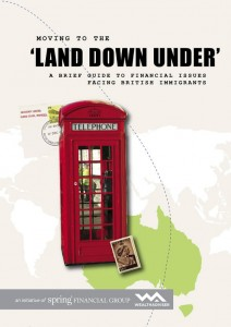 Moving to the land down under british immigrants- eBook cover