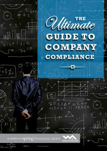 The ultimate guide to company compliance- eBook cover