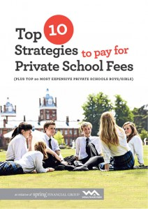 Top 10 strategies to pay for private school fees -eBook cover