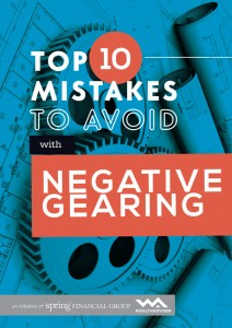 Top 10 mistakes to avoid when negative gearing - eBook cover