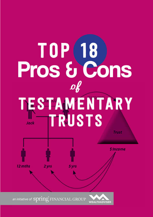 Top 18 Pros and Cons of Testamentary Trusts - eBook cover