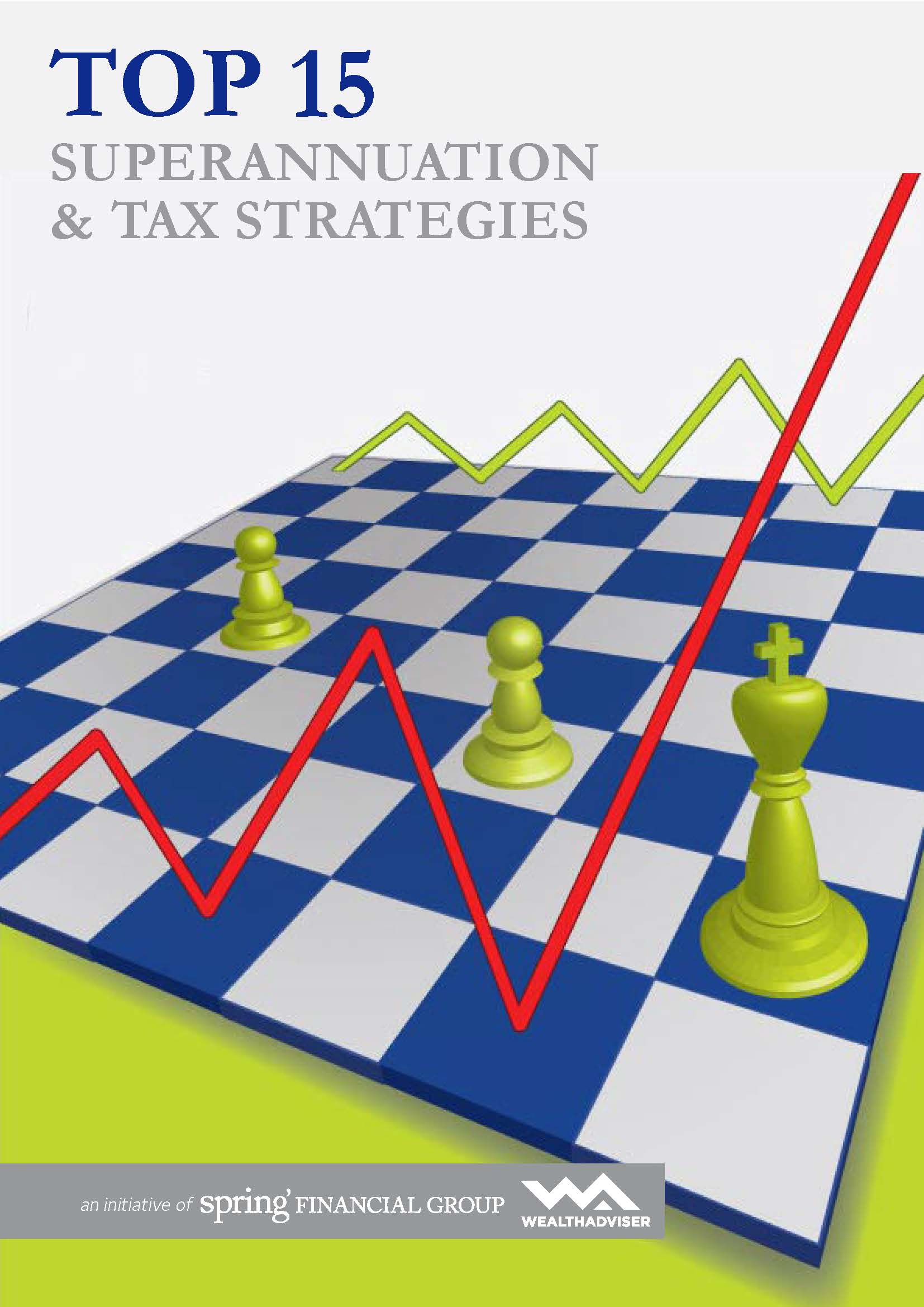 Top 15 Super and Tax Strategies - eBook cover